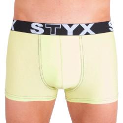 Pánské boxerky Styx sportovní guma zelenkavé (G4)