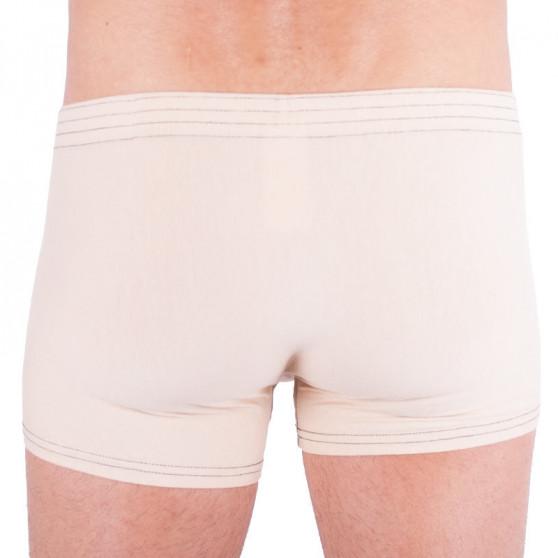 Pánské boxerky Styx klasická guma béžové (Q2)