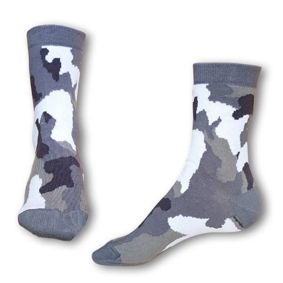 Ponožky Styx crazy šedý maskáč (H328)