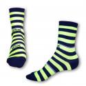 Ponožky Styx crazy modro žluté proužky (H323)