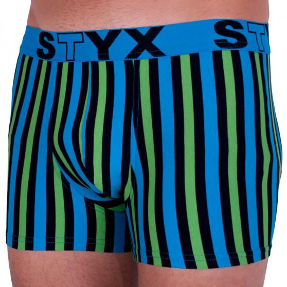 Pánské boxerky Styx sportovní guma vícebarevné (G862)