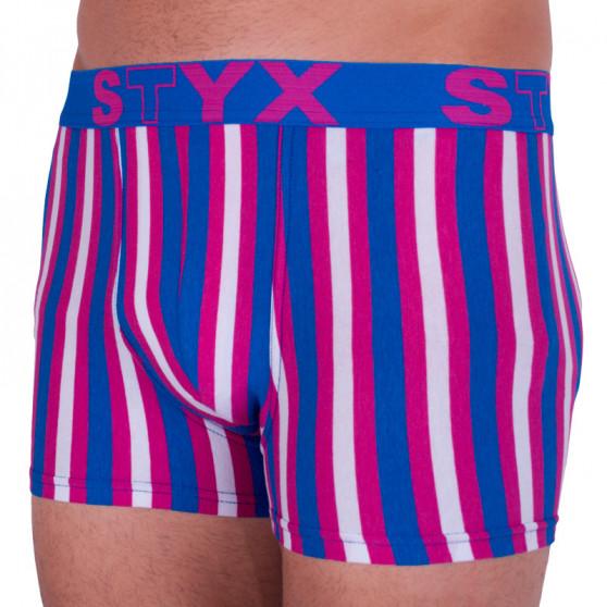 Pánské boxerky Styx sportovní guma vícebarevné (G864)
