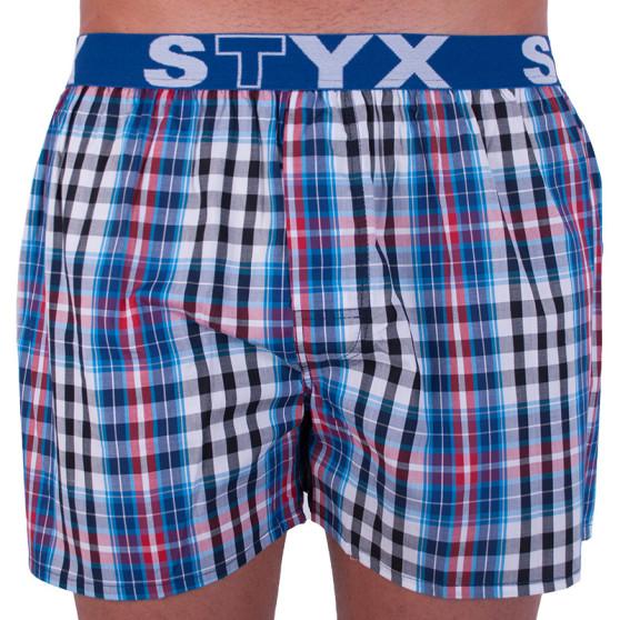 Pánské trenky Styx sportovní guma vícebarevné (B704)