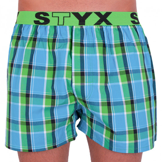 Pánské trenky Styx sportovní guma vícebarevné (B640)