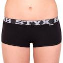 Dámské kalhotky Styx bambusové s lemem černé (M960)