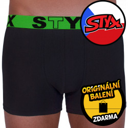Pánské boxerky Styx sportovní guma černé (G965)