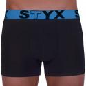 Pánské boxerky Styx sportovní guma černé (G966)