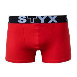 Pánské boxerky Styx sportovní guma nadrozměr červené (R663)