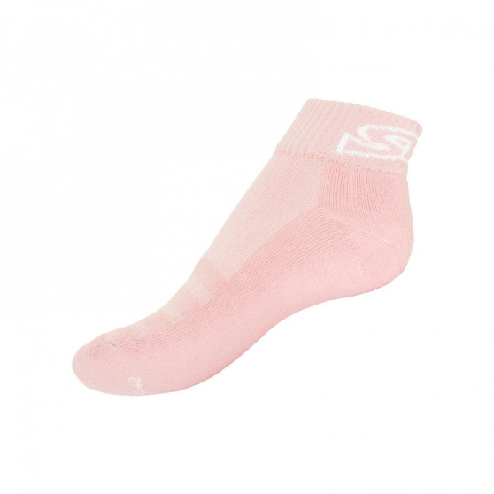 Ponožky Styx fit růžové s bílým nápisem (H274)