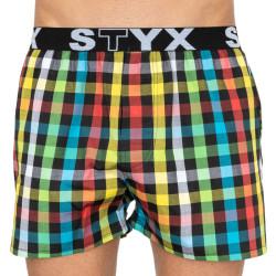 Pánské trenky Styx sportovní guma vícebarevné (B808)