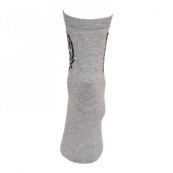 Ponožky Styx classic šedé s černým nápisem (H268)
