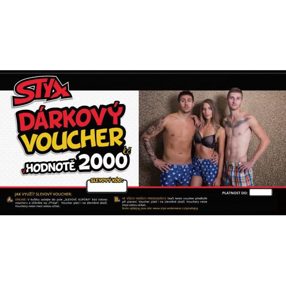 Elektronický voucher Styx 2000,- (zaslání pouze e-mailem)