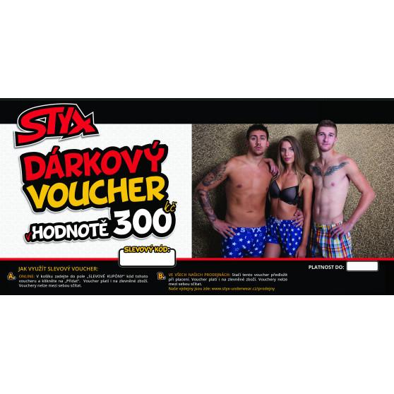 Elektronický voucher Styx 300,- (zaslání pouze e-mailem)