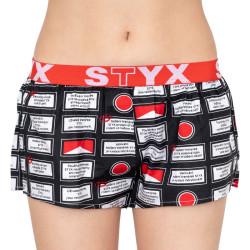 Dámské trenky Styx art sportovní guma varování (T553)