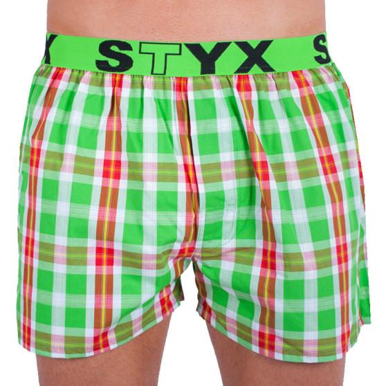 Pánské trenky Styx sportovní guma vícebarevné (B633)