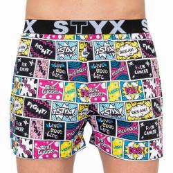 Pánské trenky Styx art sportovní guma Pink Bubble (B858)