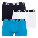 3PACK pánské boxerky Styx sportovní guma vícebarevné (G960691061)