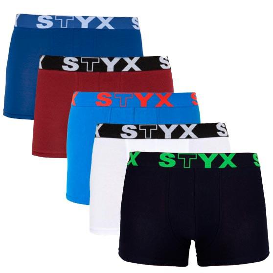 5PACK pánské boxerky Styx sportovní guma vícebarevné (G106160686762)
