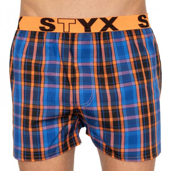 5PACK pánské trenky Styx sportovní guma vícebarevné (B80206070910)