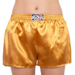 Dámské trenky Styx klasická guma saténové zlaté (L685)