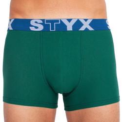 Pánské boxerky Styx sportovní guma tmavě zelené (G1066)