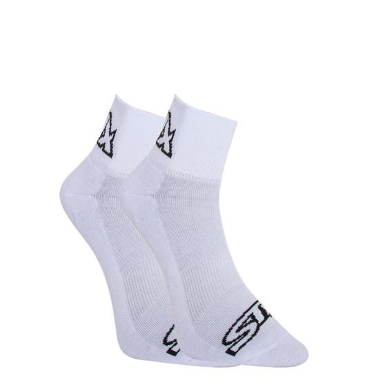 Ponožky Styx kotníkové bílé s černým logem (HK1061)
