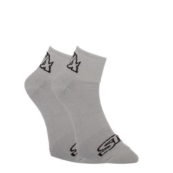 Ponožky Styx kotníkové šedé s černým logem (HK1062)