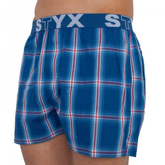 3PACK pánské trenky Styx sportovní guma vícebarevné (B7323912)