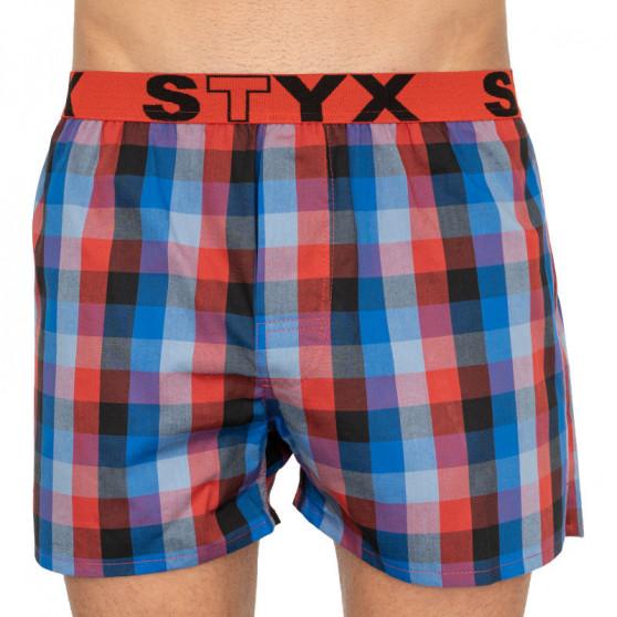 3PACK pánské trenky Styx sportovní guma vícebarevné (B7350203)