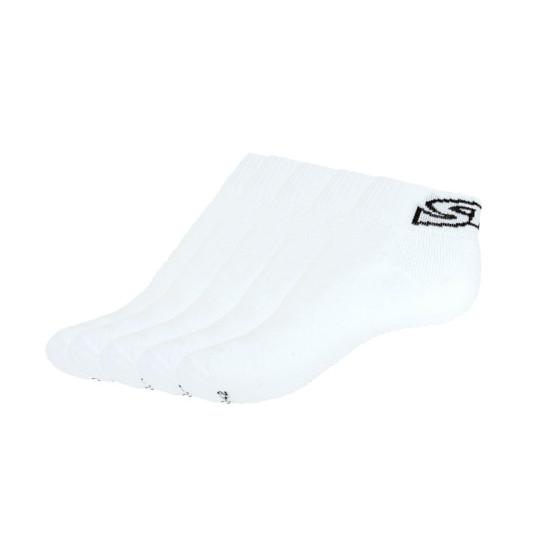 5PACK ponožky Styx kotníkové bílé s černým nápisem (H27171717171)