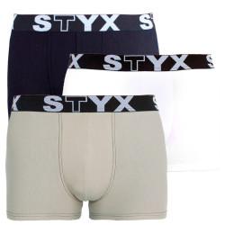 3PACK pánské boxerky Styx sportovní guma vícebarevné (G960106162)