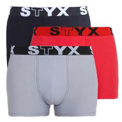 3PACK pánské boxerky Styx sportovní guma nadrozměr vícebarevné (R9606467)