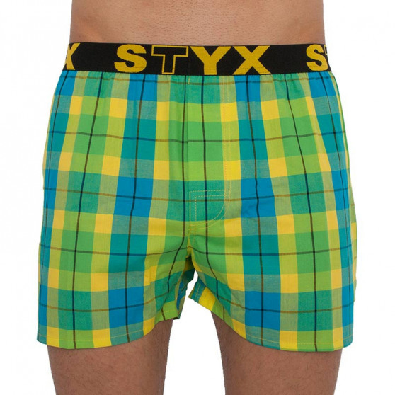 5PACK pánské trenky Styx sportovní guma vícebarevné (B80713141718)