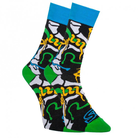 Pánské trenky art klasická guma a ponožky Styx jungle (AH956)