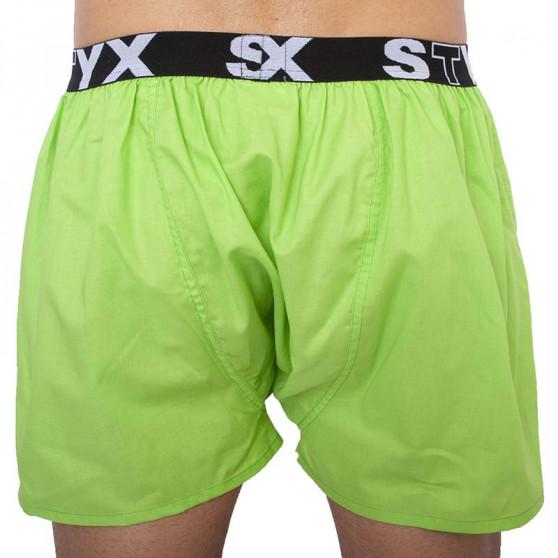 Pánské trenky Styx sportovní guma zelené PSH - limitovaná edice (B1069PSH)