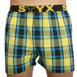 Pánské trenky Styx sportovní guma vícebarevné (B825)