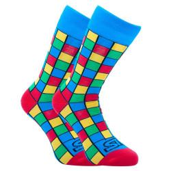 Veselé ponožky Styx vysoké art kostky (H959)