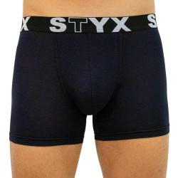 Pánské boxerky Styx long sportovní guma tmavě modré (U963)