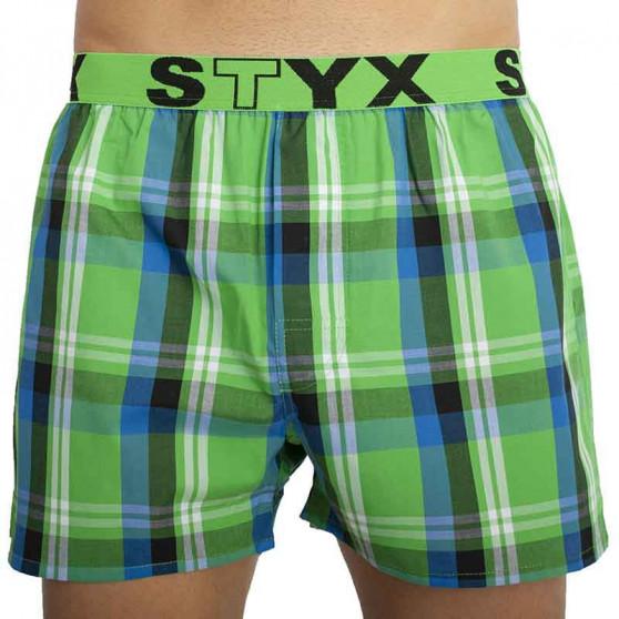 5PACK pánské trenky Styx sportovní guma vícebarevné (B82325272930)