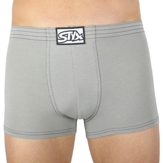 Pánské boxerky Styx klasická guma světle šedé (Q1062)
