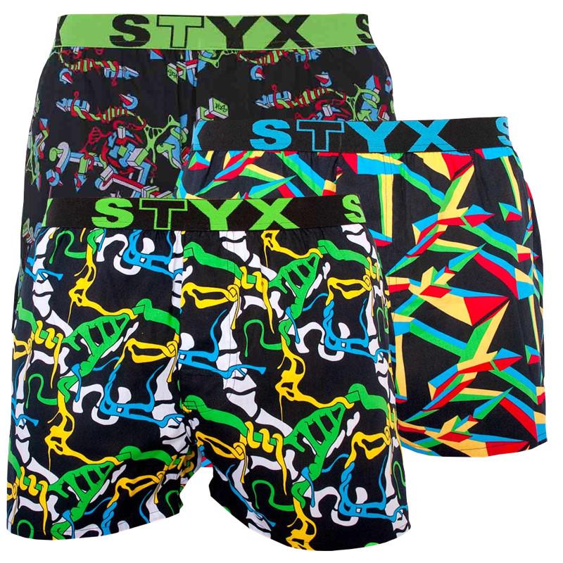 Levně 3PACK pánské trenky Styx sportovní guma vícebarevné (B9565758) XXL