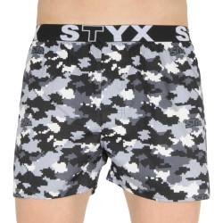 Pánské trenky Styx art sportovní guma maskáč digital (B1150)