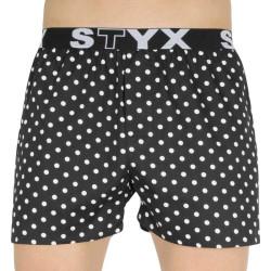 Pánské trenky Styx art sportovní guma puntíky (B1055)
