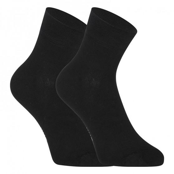 5PACK ponožky Styx kotníkové bambusové černé (5HBK960)