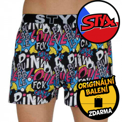 Pánské trenky Styx art sportovní guma Pink Bubble (B1058)