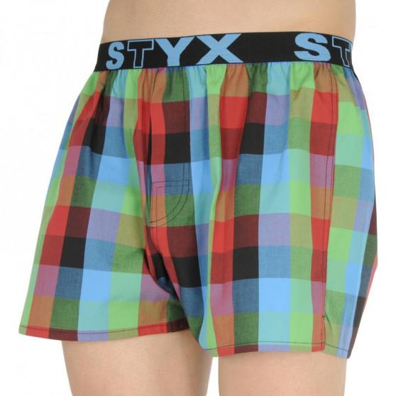 5PACK pánské trenky Styx sportovní guma vícebarevné (B831836373840)