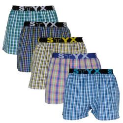 5PACK pánské trenky Styx sportovní guma vícebarevné (B10107080913)